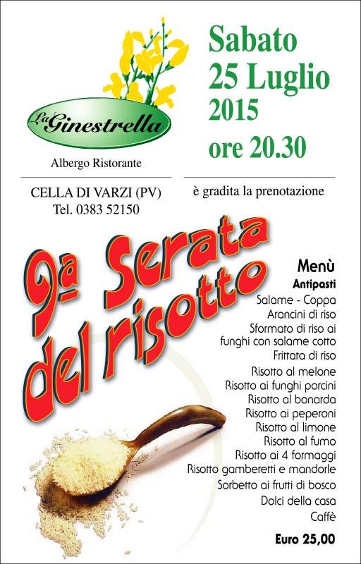9 Serata di risotto, La Ginestrella
