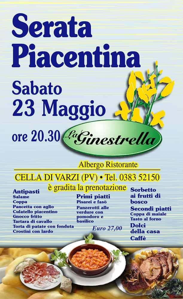 La Ginestrella - Locandina Serata Piacentina 2015
