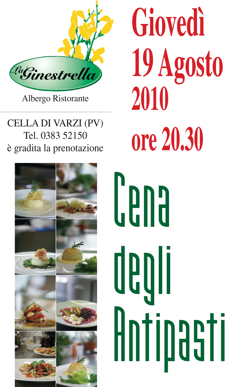 La Ginestrella, Cena degli Antipasti 2010