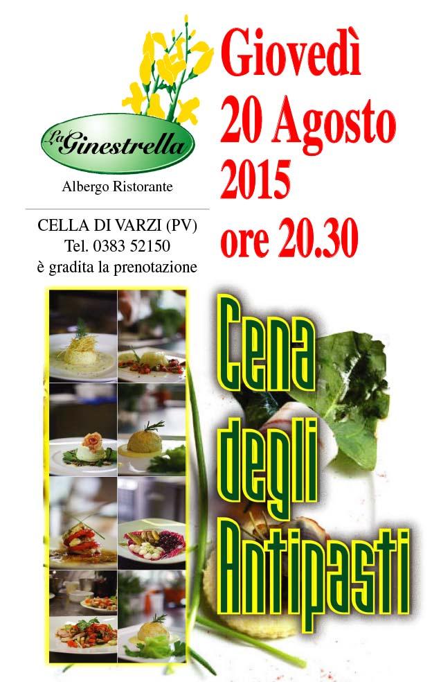 La Ginestrella - locandina antipasti 2015