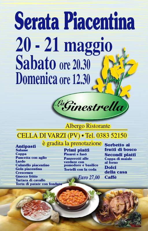 La GINESTRELLA - Serata Piacentina 2017
