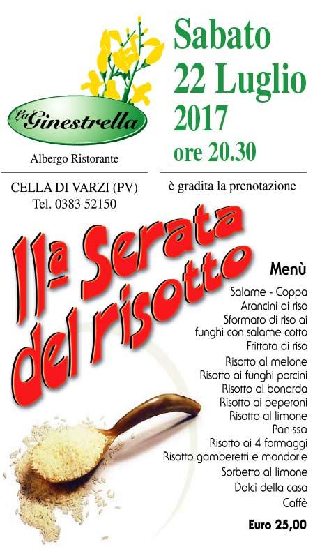 La GINESTRELLA locandina Risotto 2017
