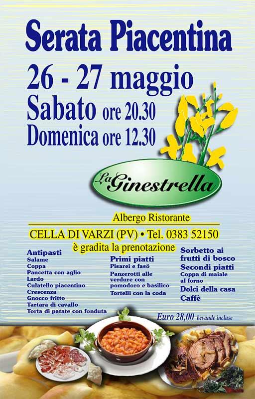 La GINESTRELLA - locandina Serata Piacentina 2018