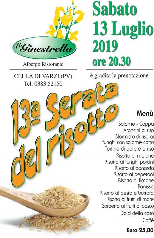 serata de risotto 2019 - La Ginestrella