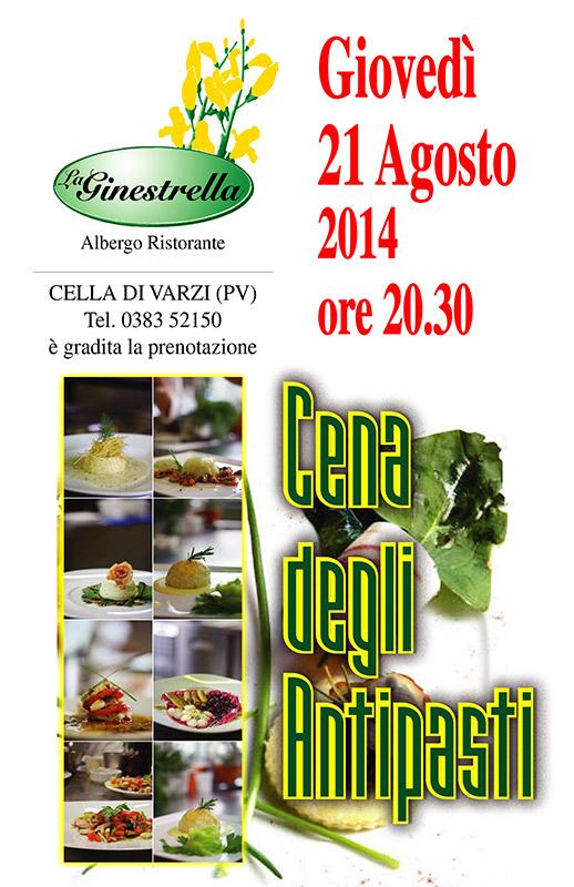 La Ginestrella - locandina Cena degli Antipasti 2014