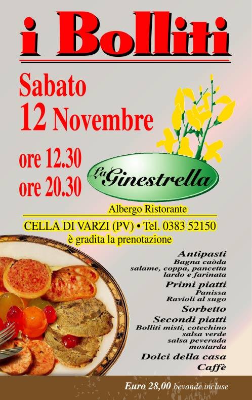 I Bolliti 2016 - Albergo Ristorante La Ginestrella, Cella di Varzi PV