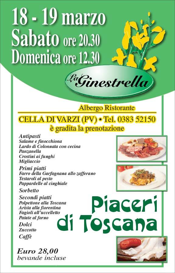 La GINESTRELLA Piaceri di Toscana 2017