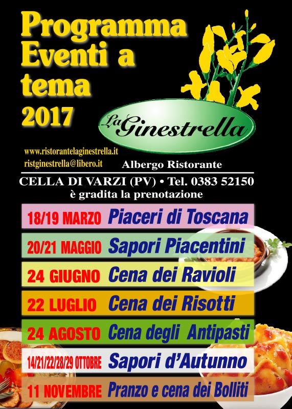 La Ginestrella - programma eventi 2017